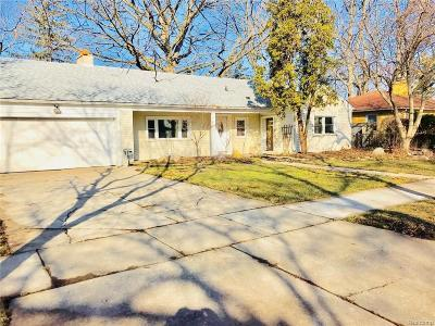 Royal Oak Single Family Home For Sale: 528 S Minerva Avenue