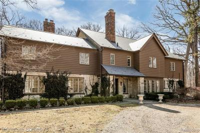 Bloomfield Twp Single Family Home For Sale: 920 Long Lake Road
