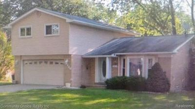 Southfield MI Single Family Home For Sale: $184,900