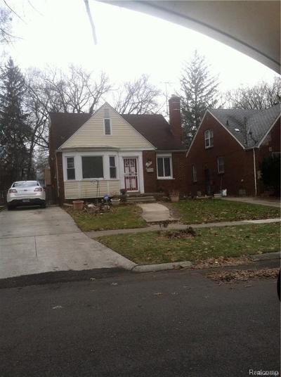 Detroit Single Family Home For Sale: 19490 Ilene St