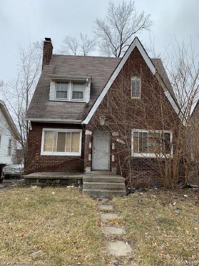 Detroit Single Family Home For Sale: 15009 Ardmore Street