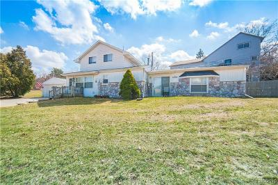 City Of The Vlg Of Clarkston, Clarkston, Independence Twp Single Family Home For Sale: 4959 Lakeview Boulevard