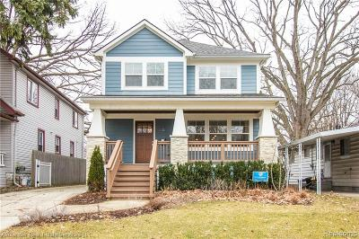 Royal Oak Single Family Home For Sale: 630 Irving Avenue