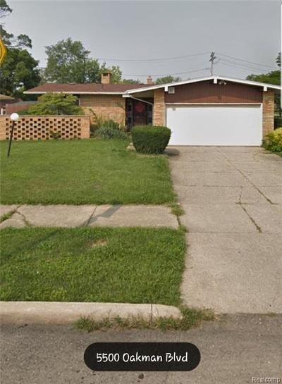 Macomb County, Oakland County, Wayne County Single Family Home For Sale: 5500 Oakman Boulevard