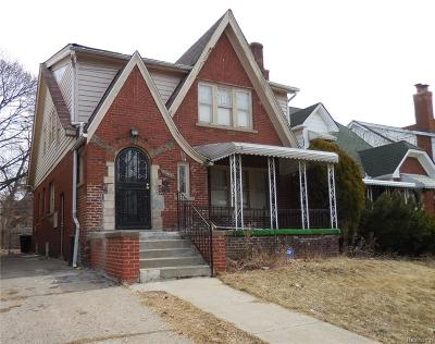 Detroit Single Family Home For Sale: 15900 Woodingham Drive