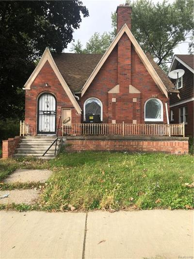 Detroit Single Family Home For Sale: 13726 Wadsworth Street