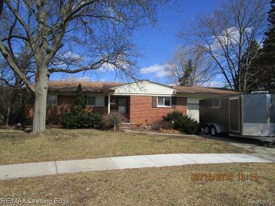 Farmington Hills, Farmington, Livonia, Redford Single Family Home For Sale: 29000 Barkley Street