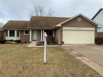 Canton, Canton Twp Single Family Home For Sale: 45428 Holmes Drive