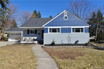 Oakland County Single Family Home For Sale: 4028 Hillside Drive