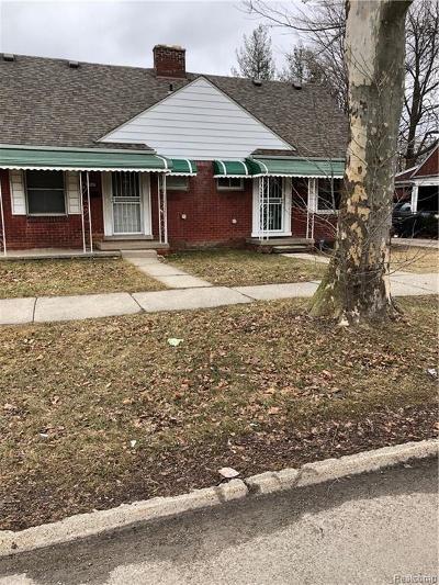 Detroit Single Family Home For Sale: 18947 Moross Road