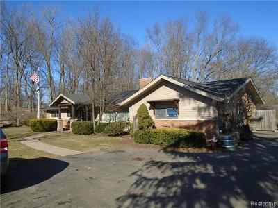Troy Single Family Home For Sale: 3124 Adams Road