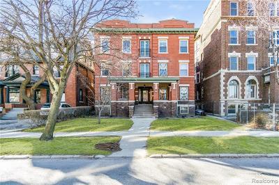Detroit Condo/Townhouse For Sale: 469 W Willis Street #7