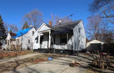 Detroit Single Family Home For Sale: 19946 Strasburg Street
