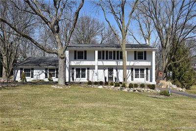 Bloomfield Twp Single Family Home For Sale: 4482 Pine Tree Trail