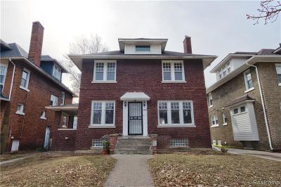 Detroit Single Family Home For Sale: 1449 Longfellow Street