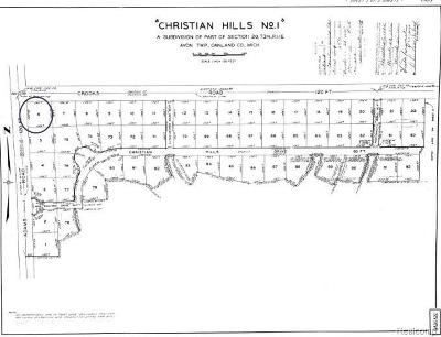 Rochester, Rochester Hills Residential Lots & Land For Sale: Avon
