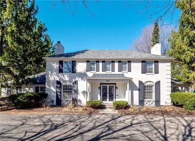 Bloomfield Twp Single Family Home For Sale: 927 N Cranbrook Road