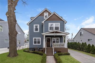 Royal Oak Single Family Home For Sale: 306 E Kenilworth Avenue