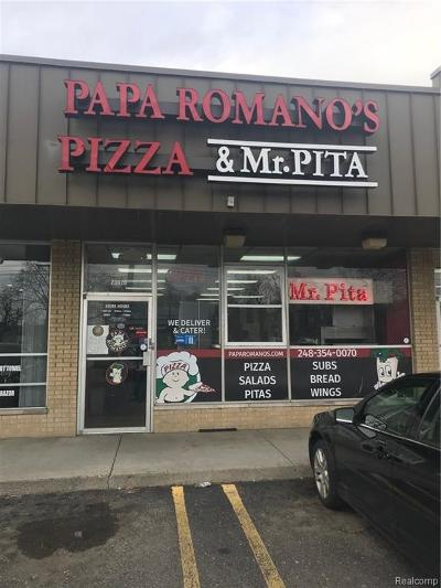 Southfield Commercial For Sale: 23926 9 Mile Road
