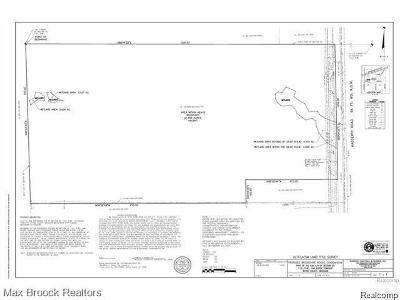 Belleville, Belleville-vanbure, Bellleville, Van Buren, Van Buren Twp, Van Buren Twp., Vanburen Residential Lots & Land For Sale: Haggerty Road