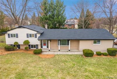 Troy Single Family Home For Sale: 6897 Vernmoor Drive