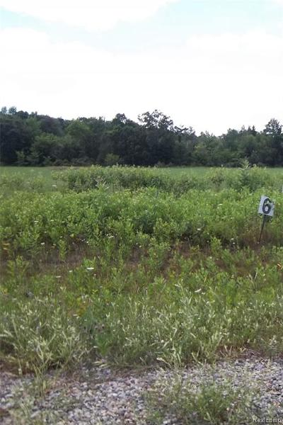 Brandon Twp Residential Lots & Land For Sale: Parcel 6 Nelson William Drive
