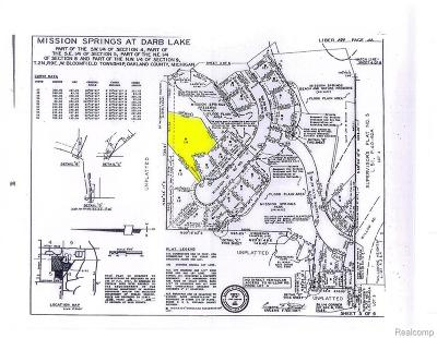 West Bloomfield Twp Residential Lots & Land For Sale: 6438 Mission