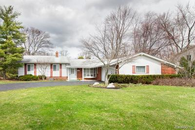 West Bloomfield, West Bloomfield Twp Single Family Home For Sale: 5524 Pembury