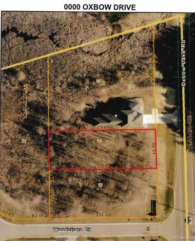 Residential Lots & Land For Sale: Oxbow Lake Road