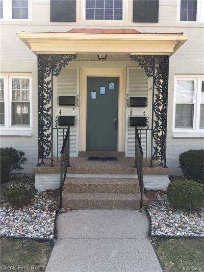 Dearborn Condo/Townhouse For Sale: 752 S Military Street