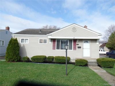 Eastpointe MI Single Family Home For Sale: $114,900