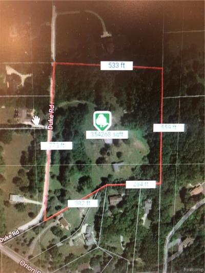 Oakland Twp Residential Lots & Land For Sale: 3921 Duke Road