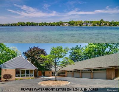 West Bloomfield Twp MI Single Family Home For Sale: $1,850,000