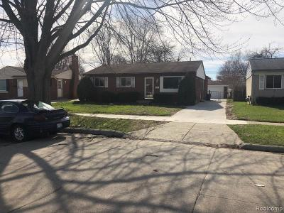 Romulus Single Family Home For Sale: 9414 Chamberlain Street