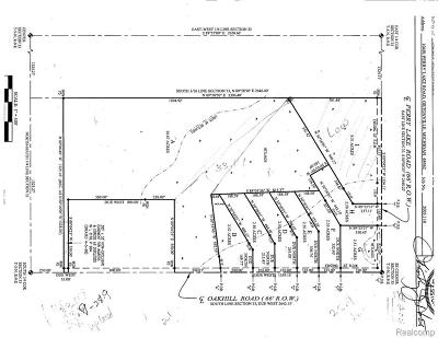 Brandon Twp Residential Lots & Land For Sale: Perry Lake Road