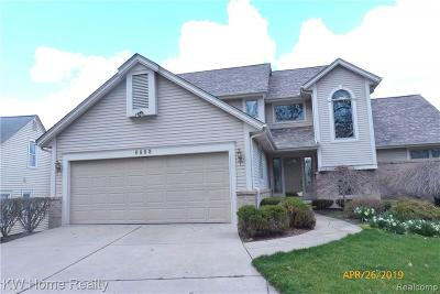 West Bloomfield Twp Single Family Home For Sale: 6888 Colony Drive