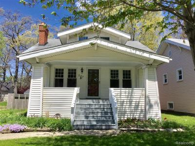 Royal Oak Single Family Home For Sale: 207 E Maryland Avenue