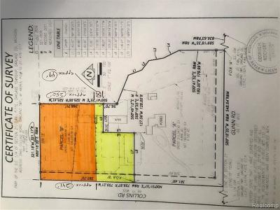 Oakland Twp Residential Lots & Land For Sale: Collins Road
