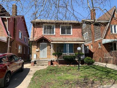 Detroit Single Family Home For Sale: 14019 Northlawn Street