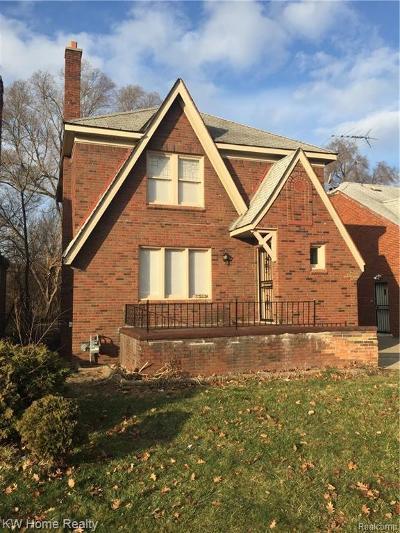 Detroit Single Family Home For Sale: 17365 Birwood Street