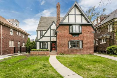 Detroit Single Family Home For Sale: 2016 W Boston Boulevard