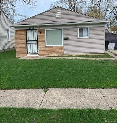 Detroit Single Family Home For Sale: 7820 Montrose Street