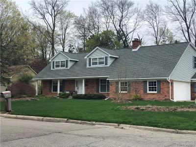 Plymouth Twp MI Single Family Home For Sale: $554,900