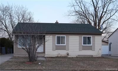 Sterling Heights MI Single Family Home For Sale: $159,900