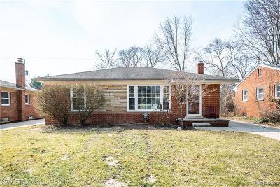 Single Family Home For Sale: 1722 Hazel Street