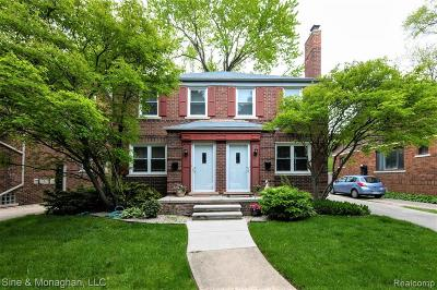 Grosse Pointe Condo/Townhouse For Sale: 824 Neff Road #1