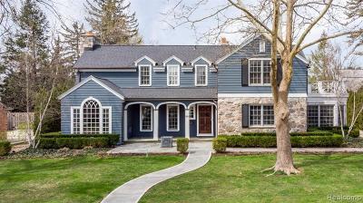 Birmingham MI Single Family Home For Sale: $2,299,000