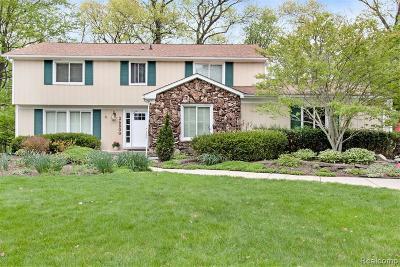Farmington Hills Single Family Home For Sale: 36800 Turtle Creek Court