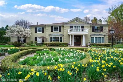 Bloomfield Twp Single Family Home For Sale: 1253 Covington Road