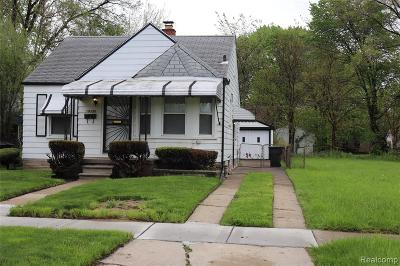 Detroit Single Family Home For Sale: 19330 Anglin Street